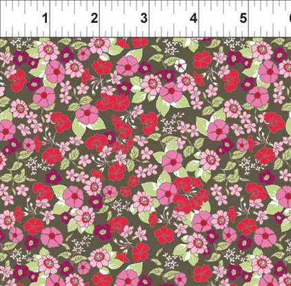 Garden Delights Red Impatiens from In the Beginning Fabrics