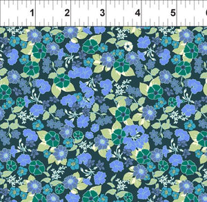 Garden Delights Blue Impatiens from In the Beginning Fabrics