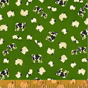 Lancaster Pasture Green Cows from Windham Fabrics