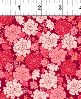 Garden Delights Pink Carnation from In the Beginning Fabrics