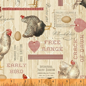 Early Bird Collage from Windham Fabrics
