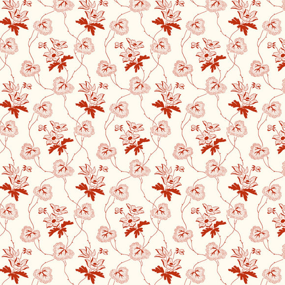 Scarlett by Mary Koval White Linen Trailing Vine