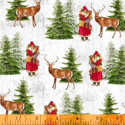 Comfort And Joy Santa Reindeer for Windham Fabrics
