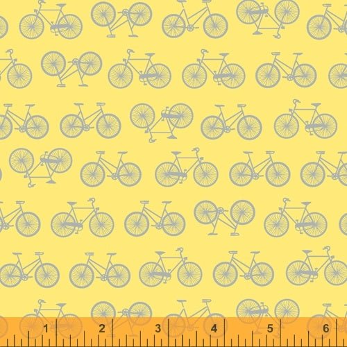 Enjoy the Ride Bike on Yellow from Windham Fabrics