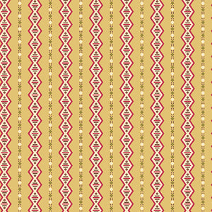 Cloverdale Gold Geometric Stripe by Di Ford Hall