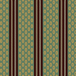 Chesapeake by Di Ford Hall  Green Oval Stripe