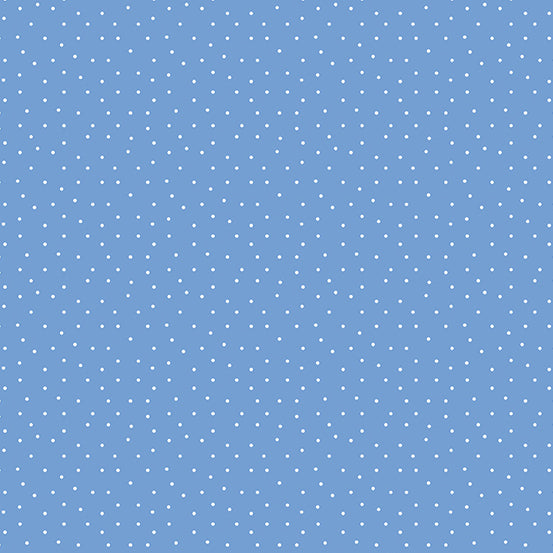 Strawberry Jam  Blue Dainty Dots from Andover
