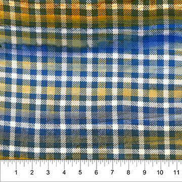 Kilts and Quilts Banyan Batik by Patience Griffin Blue Check