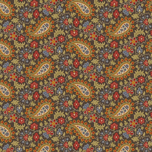 Baltimore House Brown Paisley by Paula Barnes