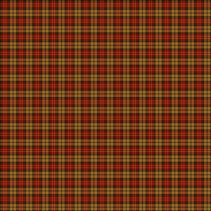 Yarn Dye Woven Check by One Sister  Brown & Red Plaid
