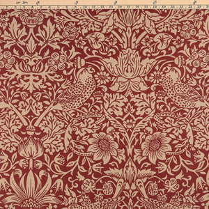Strawberry Thief by Morris & Co. Red Extra Wide 108 inch