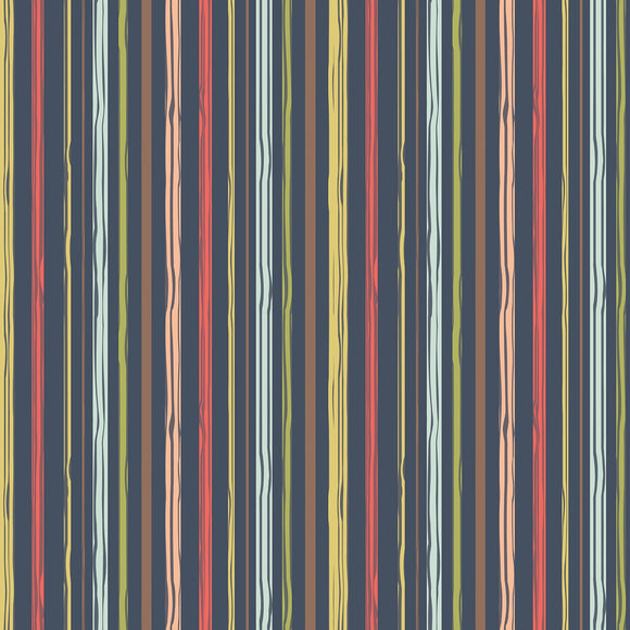 Woodland Spring by Dani Mogstad Stripe Navy