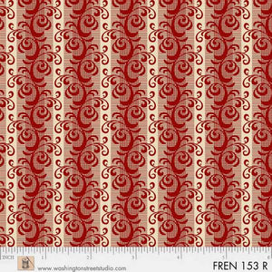 French Paisley by Evonne Cook Red Stripe