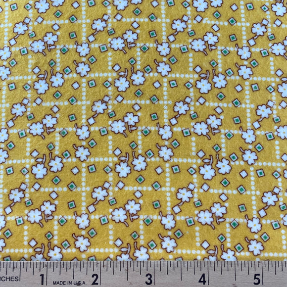 Storybook Yellow Flower Flannel by Whistler Studios