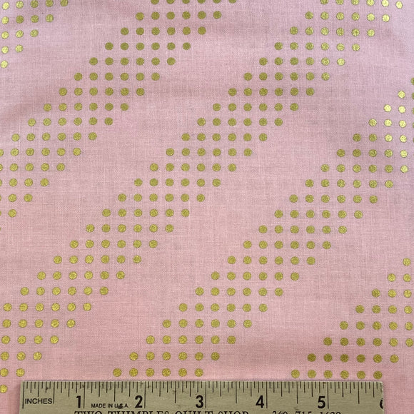 Cotton + Steel Basics Pink Metallic Dots