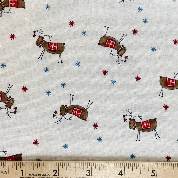 Scandinavian Christmas II by Lynette Anderson Deer Cream