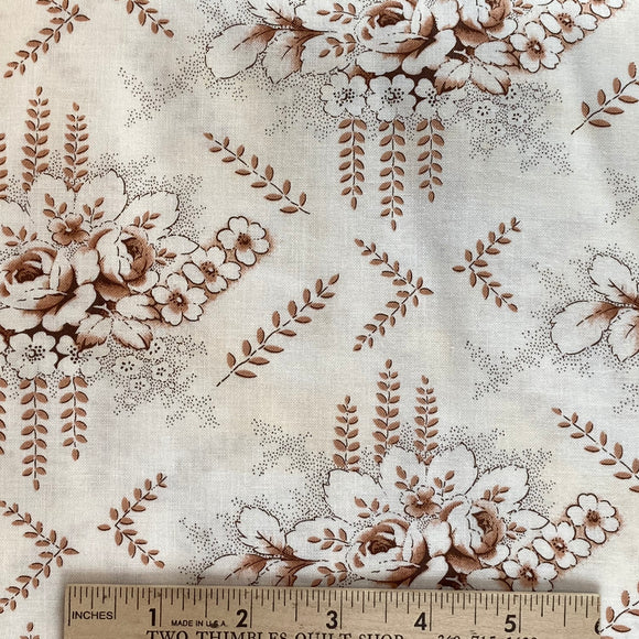 Mississippi Brown Floral Toile by Sara Morgan