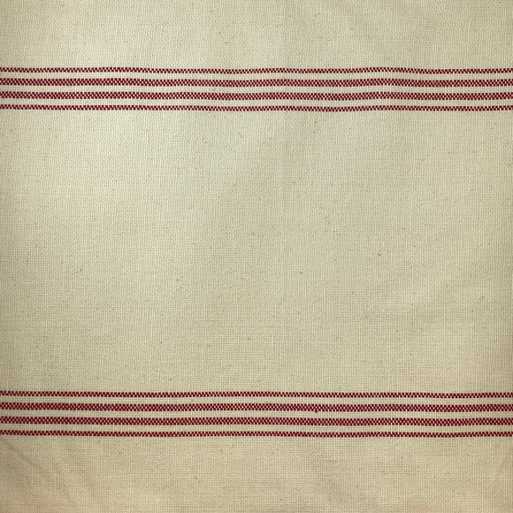 Cotton Toweling from Moda Cream with Rouge Stripe
