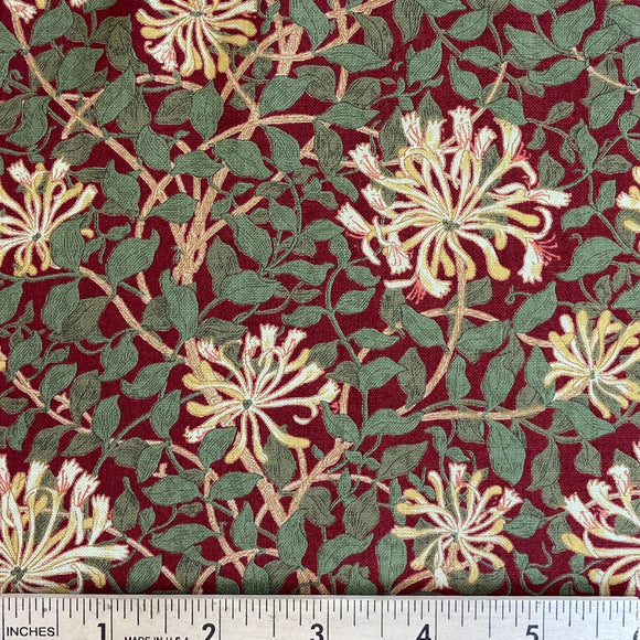 May Morris Studio Crimson Honeysuckle by V and A