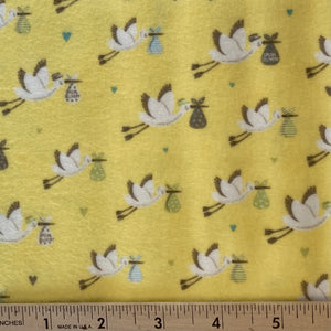 Sweet Baby Flannel by Abi Hall Sunshine Stork