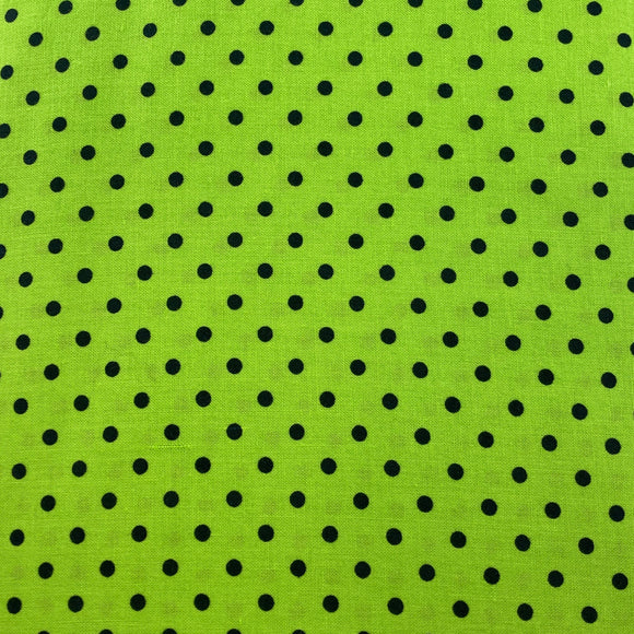 Neon Green Black Dot from Timeless Treasures