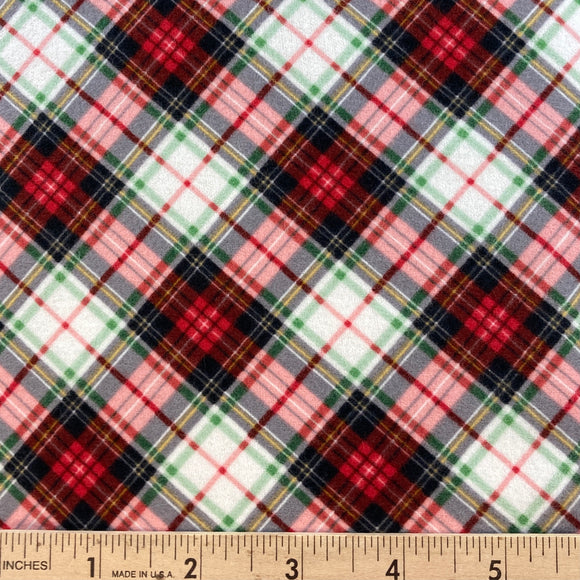 Tailor Red Tartan Flannel from Timeless Treasures