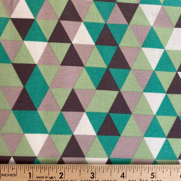 Cottage Garden Triangle Knit by Quilted Fish Gray