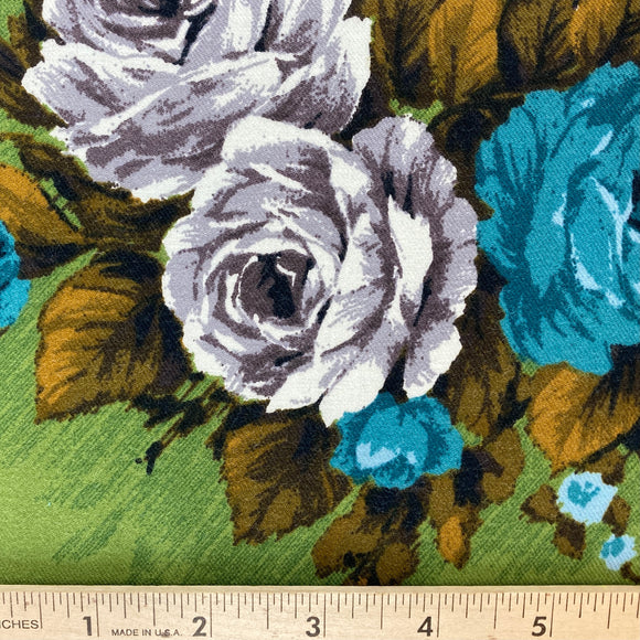 Elizabeth Green Floral Merino Wool by Gertrude Made