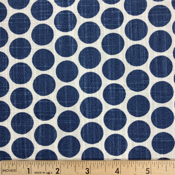 Paco Dot Space Slub Canvas Blue from Premier Fabrics