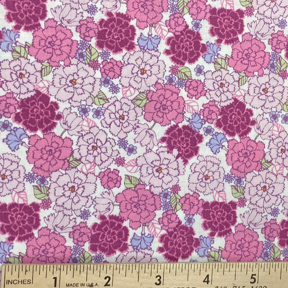 Garden Delights Carnation Pink from In the Beginning Fabrics