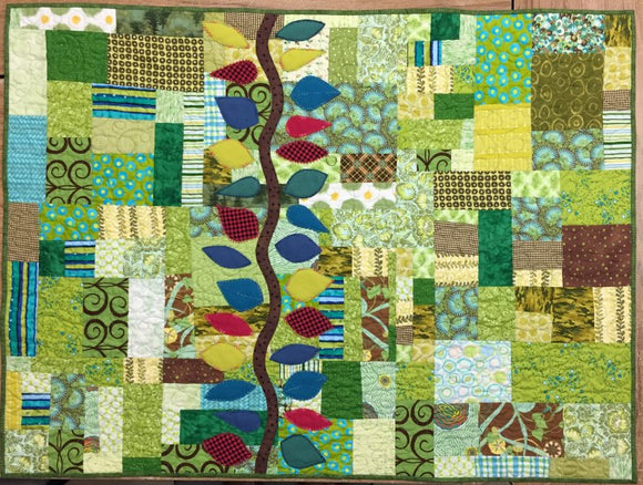 Leaves and Vine Wall Quilt Kit