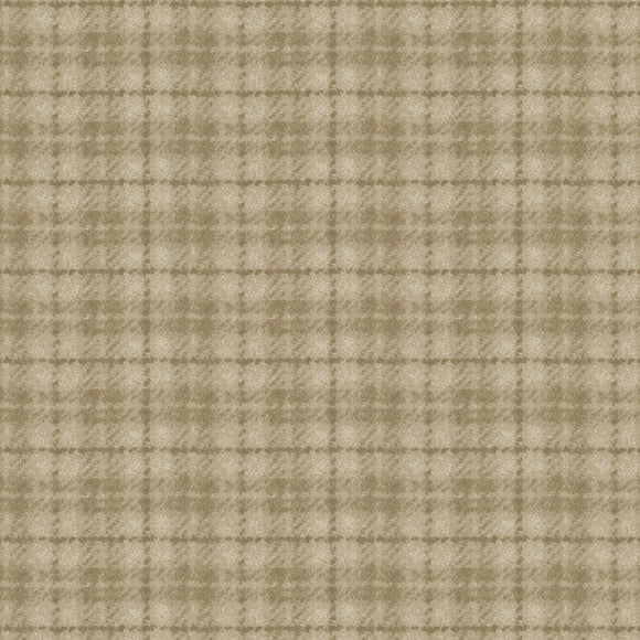 Woolies Flannel by Bonnie Sullivan Check Tan