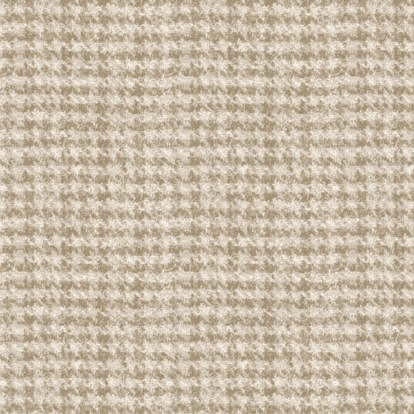 Woolies Flannel by Bonnie Sullivan Houndstooth Tan