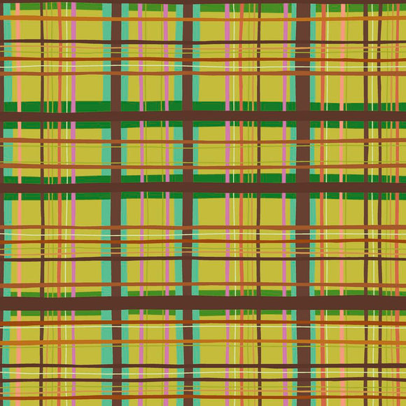 New Vintage by Kathy Doughty Plaid Chartreuse