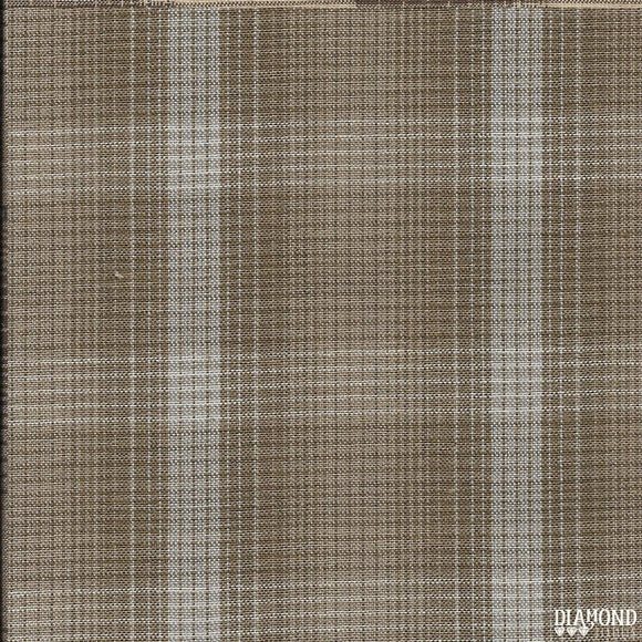 Nikko Geo Plaid Taupe from Diamond Textiles