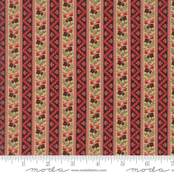 Pumpkin Pie by Edyta Sitar for Laundry Basket Quilts Embers Stripe