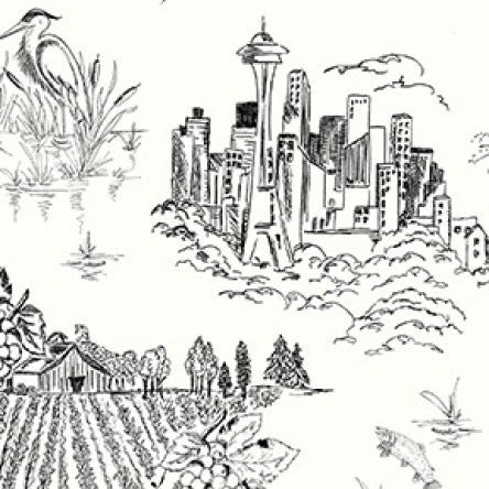 Pacific Northwest Black Toile from Clothworks