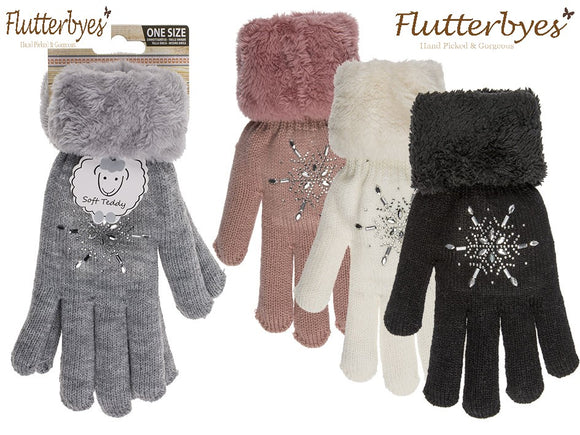 Fluffy Cosy Comfort gloves-Star