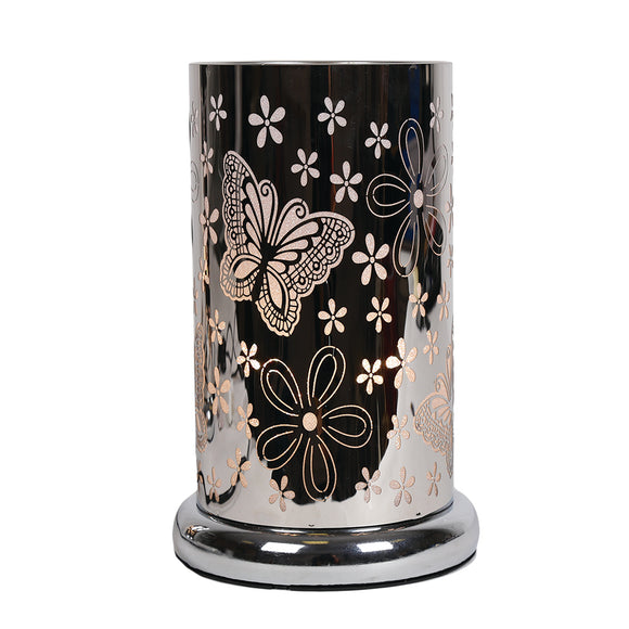 Butterfly Design- Silver Table Lamp