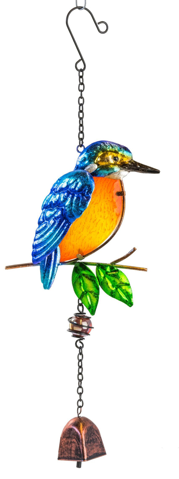 Kingfisher Suncatcher with Bell