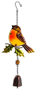 Robin Holly Sun catcher with Bell