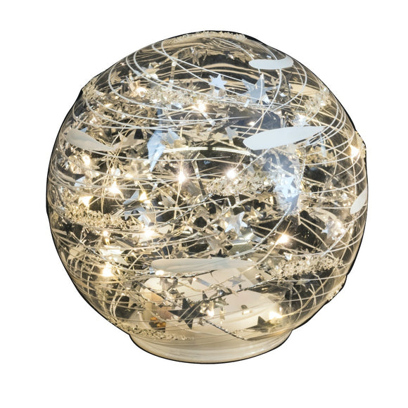 Magical Silver  Table Top  Globe - Large