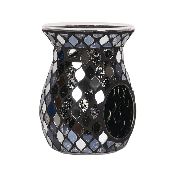 Black Mosaic T-light Wax/Oil Burner