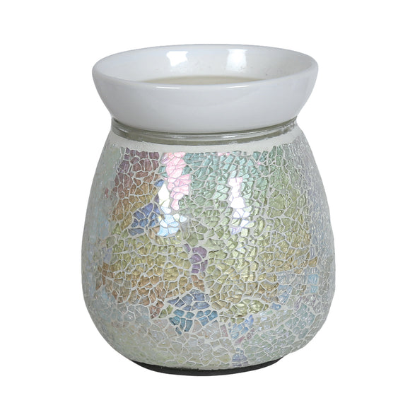 Mosaic Electric Wax/Oil Burner -Pearl Crackle