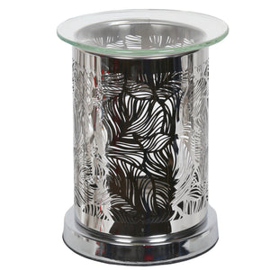 Leaf Design Wax/Oil Burner Silver