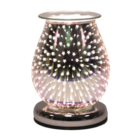 Shooting Star Glass Wax/Oil Burner Touch Lamp