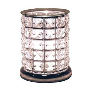 Crystal Wax/Oil Burner Touch Lamp-Clear Crystal