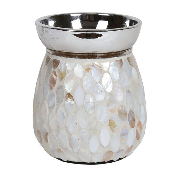 Mosaic Electric Wax/Oil Burner -Mother of Pearl