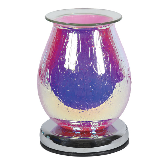 Glass Wax / Oil Burner Touch lamp - Pink