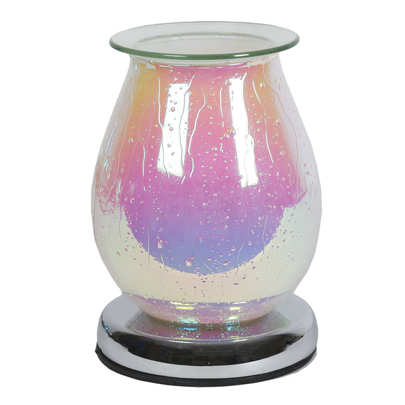Glass Wax / Oil Burner Touch lamp - Pearlised White